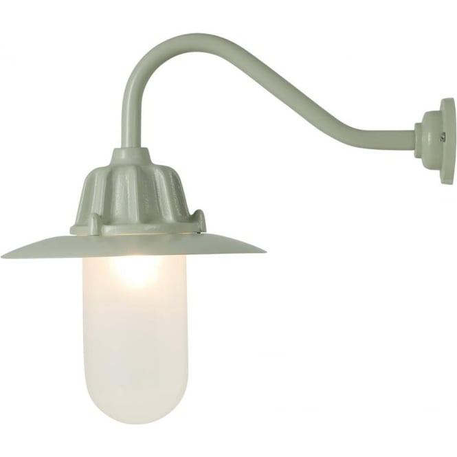 Davey Lighting 7675 Dockside Wall Light, With reflector, Putty Grey, Frosted