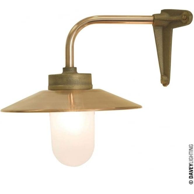 Davey Lighting 7680 Exterior Bracket Light, Right Angle, Corner Fork, Gunmetal, Frosted