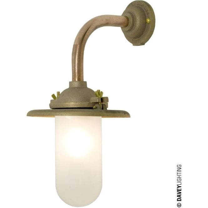 Davey Lighting 7685 Exterior Bracket Light, Reflector, Right Angle Arm, Round Base, Gunmetal, Frosted