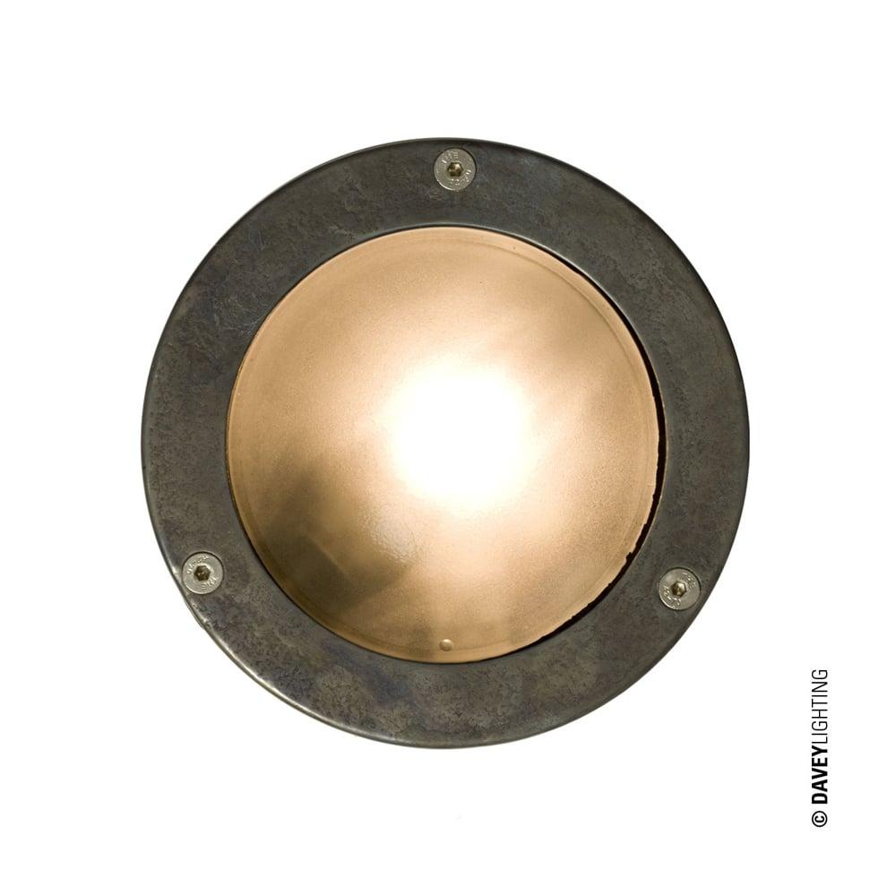 Davey lighting davey lighting 8034 miniature round bulkhead plain 8034 miniature round bulkhead plain bezel g9 weathered brass mozeypictures Images