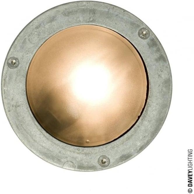 Davey Lighting 8034 Miniature Round Bulkhead, Plain Bezel, GX53, Aluminium