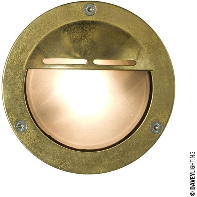 Davey Lighting 8035 Miniature Round Bulkhead, Eyelid Shield, G9, Brass