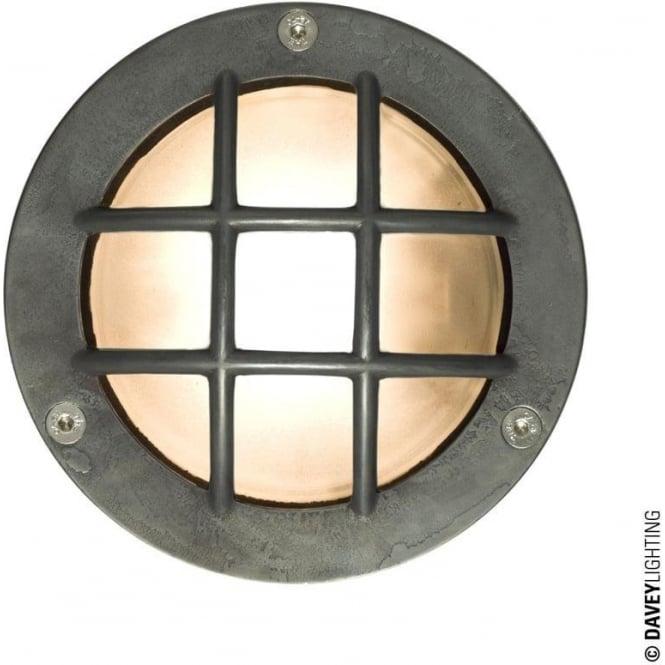 Davey Lighting 8038 Miniature Round Bulkhead, Cross Guard, GX53, Weathered Brass