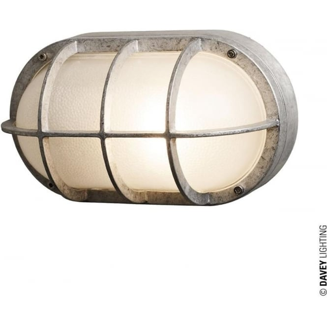 Davey Lighting 8122 Oval Aluminium Bulkhead with Guard, E27