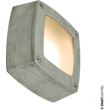 8139 Wall, Ceiling or Step Light, Square, Plain Bezel, Aluminium