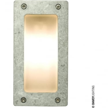 8595 Wall or Step Light, Rectangular Plain Bezel, Aluminium, G9