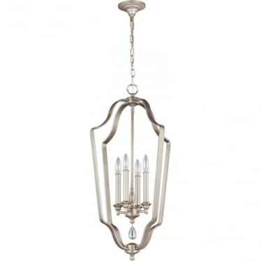 DeWitt 4 Light Foyer Chandelier Sunrise Silver