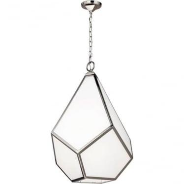 Diamond Large Pendant Chandelier Polished Nickel