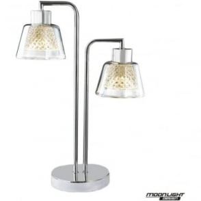 Diamond Table Lamp Chrome