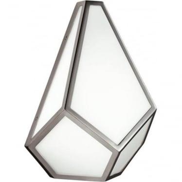 Diamond Wall Light Polished Nickel