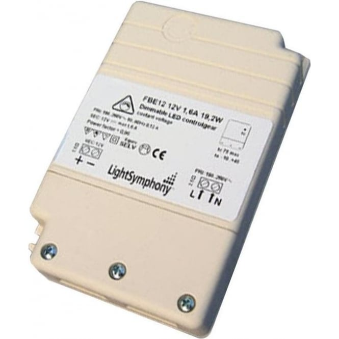 Light Symphony Dimmable LED driver 12V, 19.2W, 1600mA Constant Voltage
