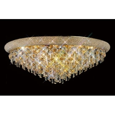 Alexandra 16 light ceiling - French gold