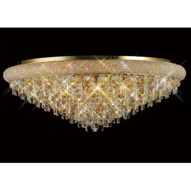 Alexandra 18 light ceiling - French gold