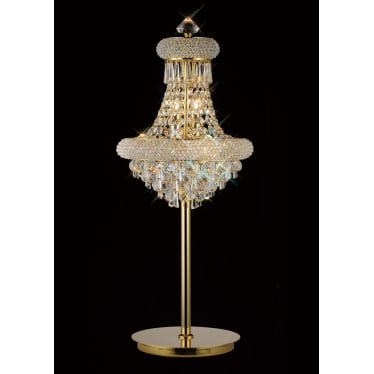 Alexandra 6 light table lamp - French gold