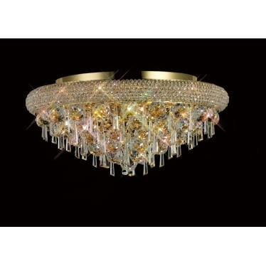 Alexandra 7 light ceiling - French gold