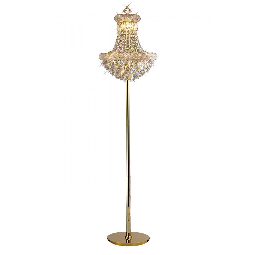 Alexandra 8 light floor lamp french gold