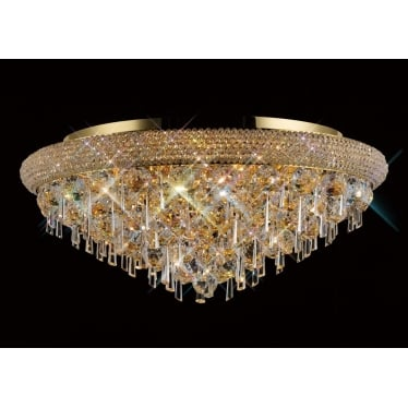 Alexandra 9 light ceiling - French gold