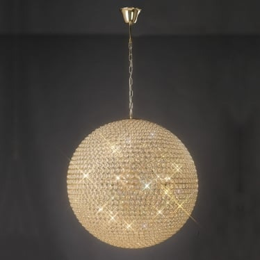 Ava 12 light pendant - French gold