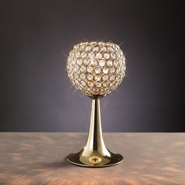 Ava 2 light table lamp - French gold