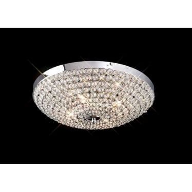 Ava 4 light ceiling - Polished chrome