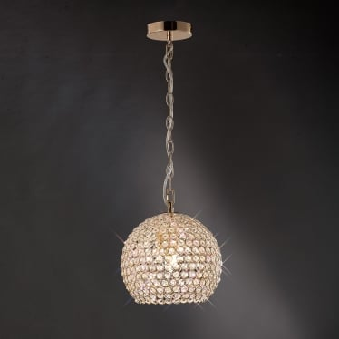 Ava 4 light pendant - French gold