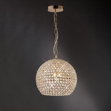 Ava 5 light pendant - French gold