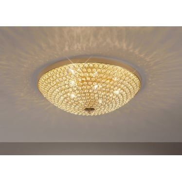 Ava 6 light ceiling - French gold