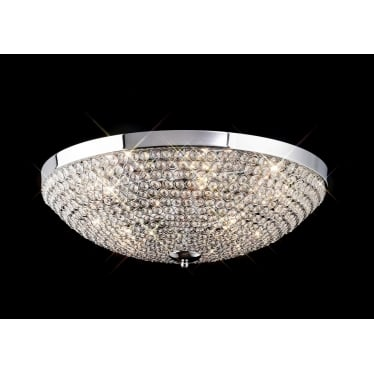 Ava 6 light ceiling - Polished chrome