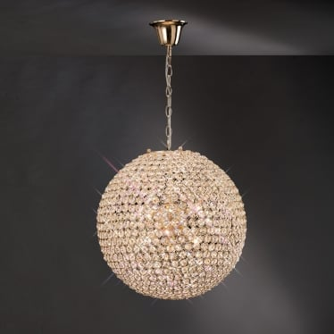 Ava 7 light pendant - French gold