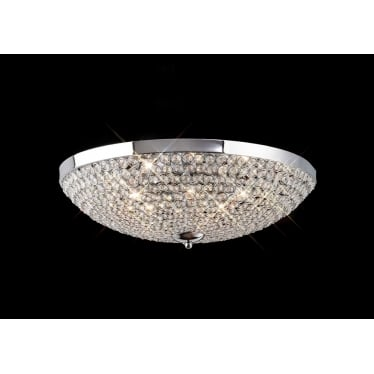 Ava 9 light ceiling - Polished chrome