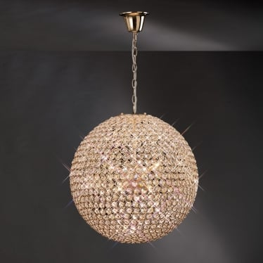 Ava 9 light pendant - French gold