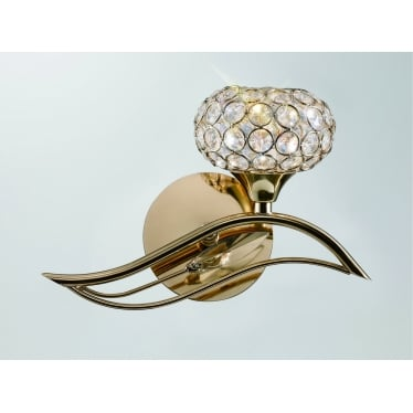 Leimo 1 Light Wall - French Gold