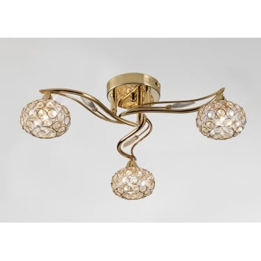 Leimo 3 Light Ceiling - French Gold