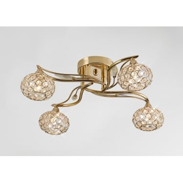 Leimo 4 Light Ceiling - French Gold