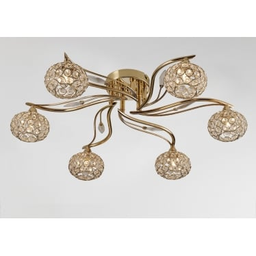 Leimo 6 Light Ceiling - French Gold