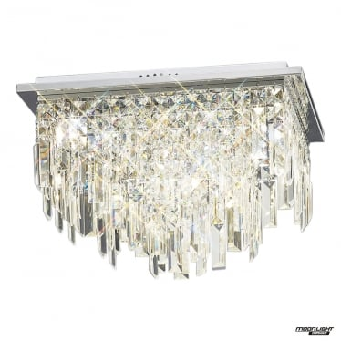 Maddison 6 Light Ceiling - Polished Chrome