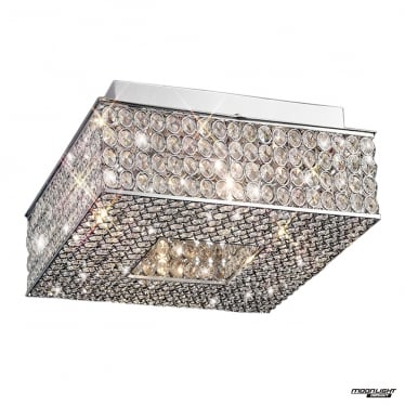 Piazza 4 Light Ceiling - Polished Chrome