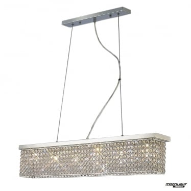 Piazza 6 Light Pendant - Polished Chrome