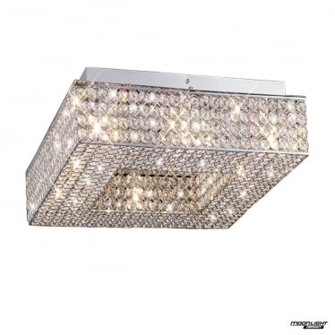 Piazza 8 Light Ceiling - Polished Chrome