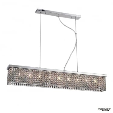 Piazza 9 Light Pendant - Polished Chrome