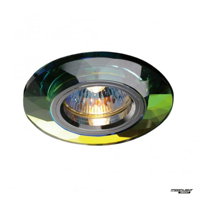 Diyas Recessed Chamfered Round Downlights - Spectrum Crystal
