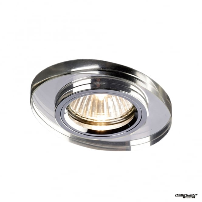 Diyas Recessed Oval Downlight - Clear Crystal
