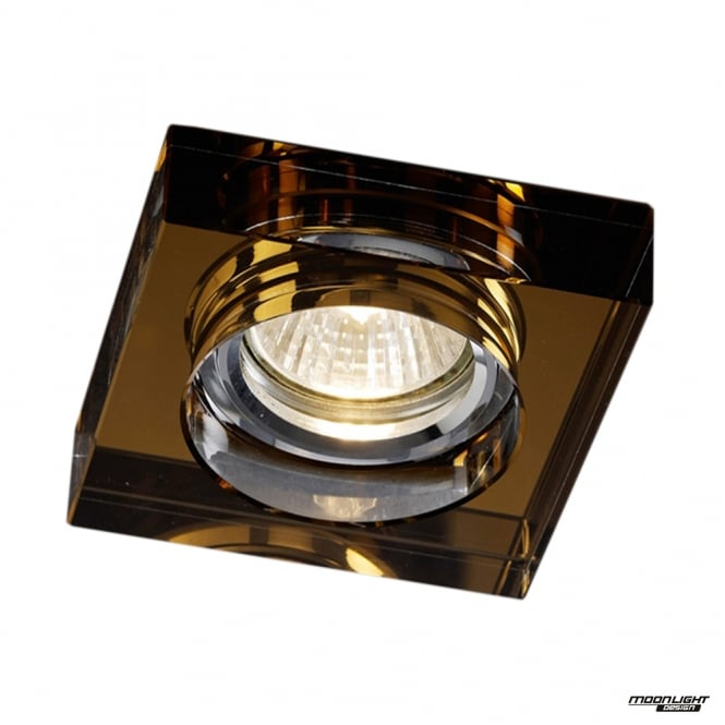 Diyas Recessed Square Downlight - Clear / Bronze
