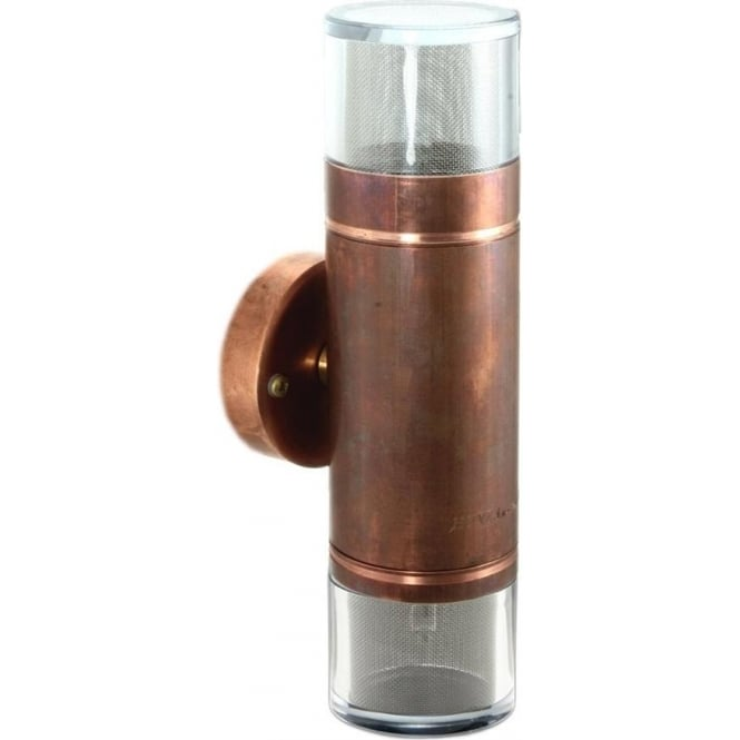 Hunza Outdoor Lighting Double Pagoda Light - copper - Low Voltage