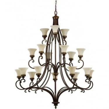 Drawing Room 18 Light Chandelier Walnut