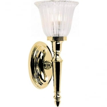 Dryden Single Wall Light Polished Brass