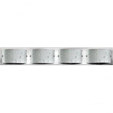 Duet 4 Light Bathroom LED Wall Light IP44 Polished Chrome