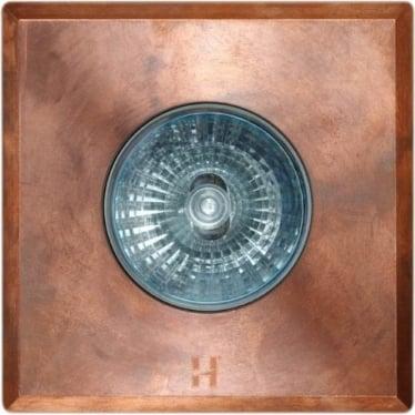 Eave Light Square - copper - Low Voltage