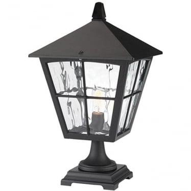 Edinburgh Pedestal Lantern - Black