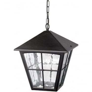 Edinburgh Porch Chain Lantern - Black